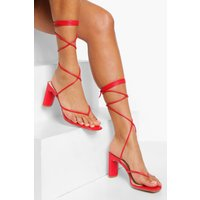 Wide Fit Toe Post Wrap Sandal