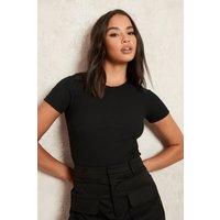 Womens Short Sleeve Bodysuit - Black - 14, Black