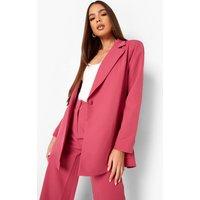 Womens Asymetric Wrap Tailored Blazer - Pink - 12, Pink