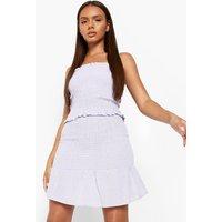 Linen Look Shirred Crop & Mini Skirt