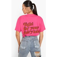 Womens Fairytale T Shirt - Pink - S, Pink