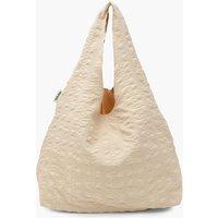 Womens Crinkle Oversized Shopper Bag - White - One Size, White