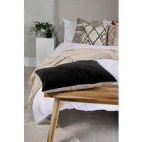 Womens Velvet Linen Back Scatter Cushion - Black - One Size, Black