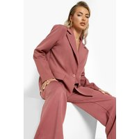 Womens Relaxed Fit Tailored Blazer - Purple - 10, Purple