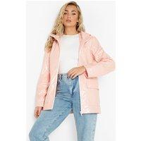 Womens Glitter Pu Coated Mac - Pink - 10, Pink