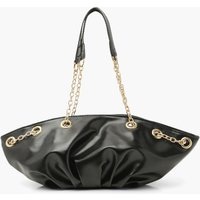 boohoo Womens Chain Handle Slouchy Day Bag - Black - One Size, Black FZZ4626710535