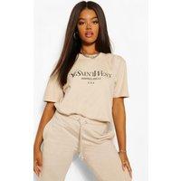 Womens Ye Saint West Oversized T-Shirt - Beige - L, Beige