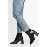 Womens Wide Fit Square Toe Shoe Boot - Black - 8, Black
