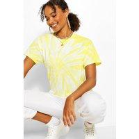 Womens Tie Dye Oversized Tshirt - Yellow - M, Yellow