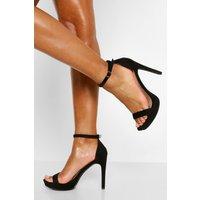Womens Stiletto Heel Platform Two Parts - Black - 5, Black