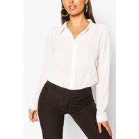 Woven Button Through Shirt - White - 10, White