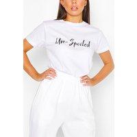 Womens Un-Spoiled Slogan Top - White - M, White