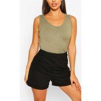 Womens Basic Vest - Green - 8, Green