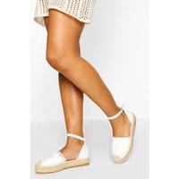 Womens Ankle Strap Espadrilles - White - 5, White