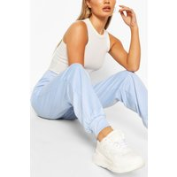 Womens Lightweight Relaxed Casual Joggers - Blue - 10, Blue
