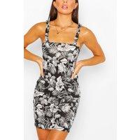 Womens Monochrome Floral Sundress - Black - 12, Black