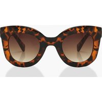 Womens Tort Chunky Oversized Sunglasses - Brown - One Size, Brown