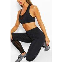 Womens Mesh Insert Gym Legging - Black - 10, Black