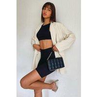 Womens Woven Tailored Oversized Pocket Blazer Dress - Beige - 12, Beige