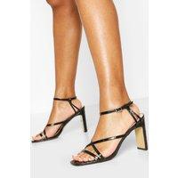 Womens Strappy Flat Heel Sandals - Black - 6, Black