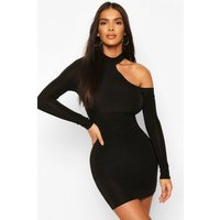 Womens Neon Cut Out Bodycon Mini Dress - Black - 6, Black