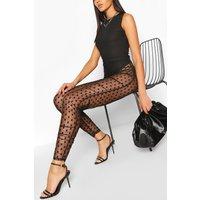 Womens Dobby Mesh Ruched Legging - Black - 12, Black