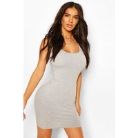 Womens Scoop Neck Sleeveless Bodycon Dress - Grey - 14, Grey