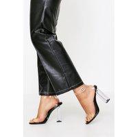 Womens Clear 2 Part Heel - Black - 6, Black