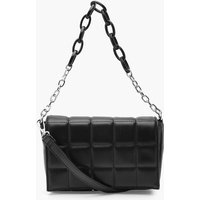 Pu Quilted Cross Body Bag With Chunky Chain