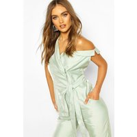 Womens Boohoo Occasion Lapel Detail Sleeveless Blazer - Green - 10, Green