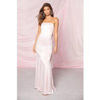 Womens Occasion Satin Bow Back Maxi Dress - Pink - 14, Pink