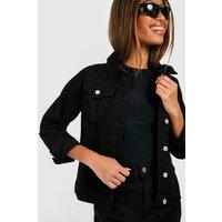 Womens Denim Western Jacket - Black - 8, Black