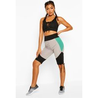 Womens Fit Booty Boost Ruched Cycling Shorts - green - 16, Green