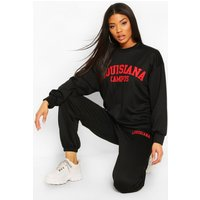 Womens Louisiana Campus Oversized jumper Tracksuit - black - 8, Black