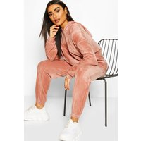 Womens Velour Effect Joggers - pink - 10, Pink