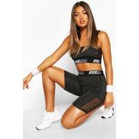 Fit Women Tape Low Impact Sports Bra - black - 14, Black