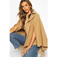 Womens Double Breasted Cape - beige - M, Beige