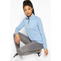 Womens Fit Woman Funnel Neck Marl Top - Blue - 16, Blue