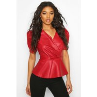 Wrap Pu Top - red - 10, Red