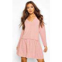 Frill Detail Shift Dress - pink - 10, Pink