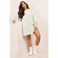 Womens Oversized Sweat Dress - Green - Xl, Green