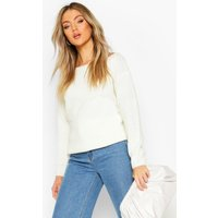 Womens Slash Neck Fisherman Jumper - White - S, White