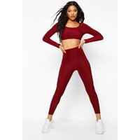 Womens Soft Touch Gym Leggings - red - 12, Red