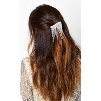 Womens Statement Diamante Waterfall Hairslide - grey - One Size, Grey