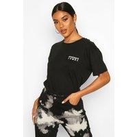 Womens Mystique Pocket Print T-Shirt - black - M, Black