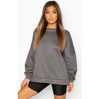Womens Premium Oversized Jumper - Grey - S, Grey