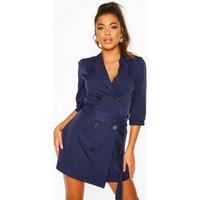 Womens Puff Sleeve Blazer Dress - navy - 12, Navy