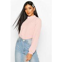 Womens High Neck Bodysuit - pink - 8, Pink