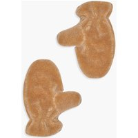 Womens Teddy Borg Mittens - Brown - One Size, Brown