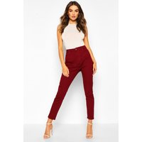 Womens High Waisted Skinny Jean - red - 8, Red